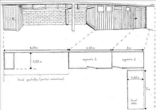 Rénovation d'appentis d'une cours d'immeuble - 1