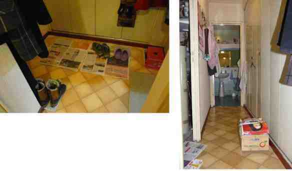 Pose carrelage sdb  placard  entrée (environ 10m²) + enlever moquette et lino - 1