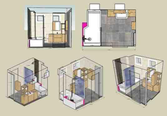 Rénovation salle de bains de 5m². Sans fournitures. - 1