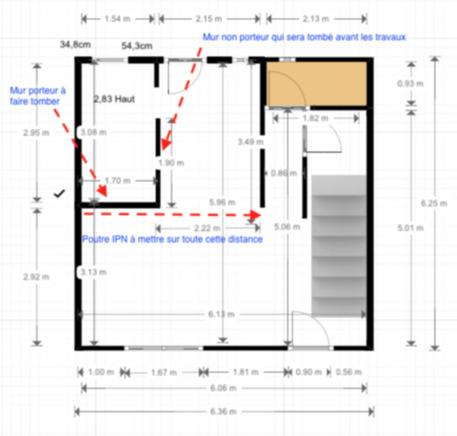 estimations prix pour tomber un mur porteur remplacer par barre et pose d 39 une ipn le plessis. Black Bedroom Furniture Sets. Home Design Ideas