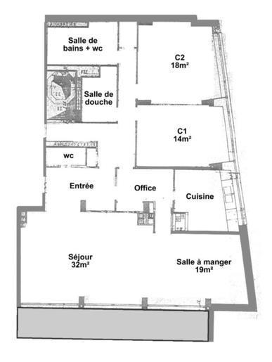 Appartement de 140 m2 à rénover - 1