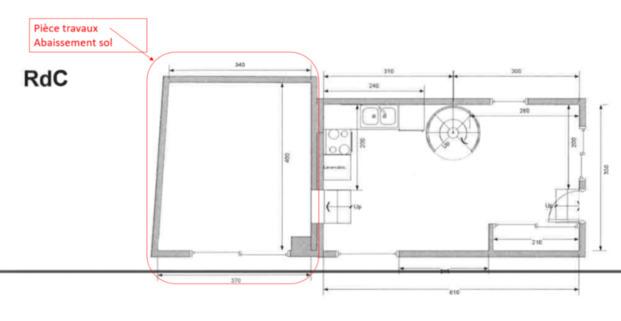 excavation d caissement sol pi ce 14m2 maison pose dalle b ton sevres 92310 hauts de. Black Bedroom Furniture Sets. Home Design Ideas