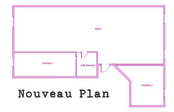 55 m2 à rénover - 1